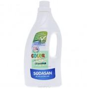 Жидкое средство для стирки детских изделий из цветных тканей и для чувствительной кожи, Sodasan, 1.5 л
