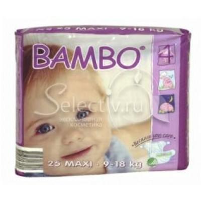 BAMBO детские Эко-подгузники Maxi 9-18 кг №25 (25ШТ)