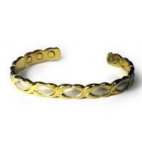 ЖИЗЕЛЬ Медный браслет (родий, позолота)  6 магнитов
