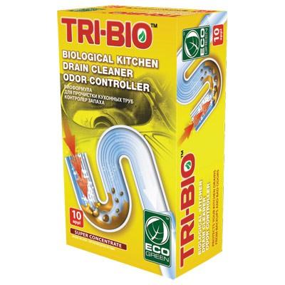 Биоформула для прочистки кухонных труб, контролер запаха TRI-BIO (10доз)